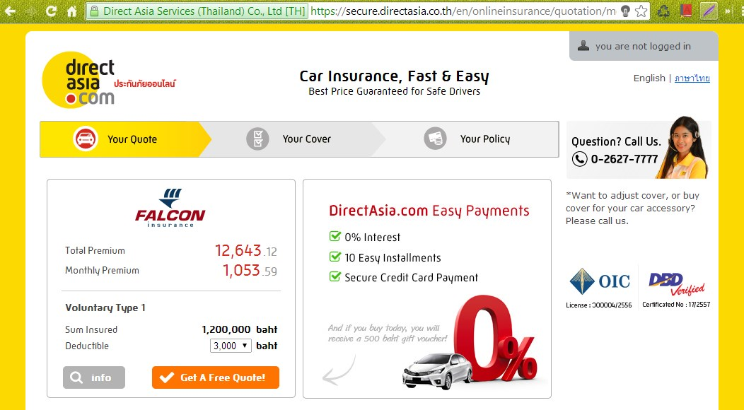 Car Insurance in Thai 1.2
