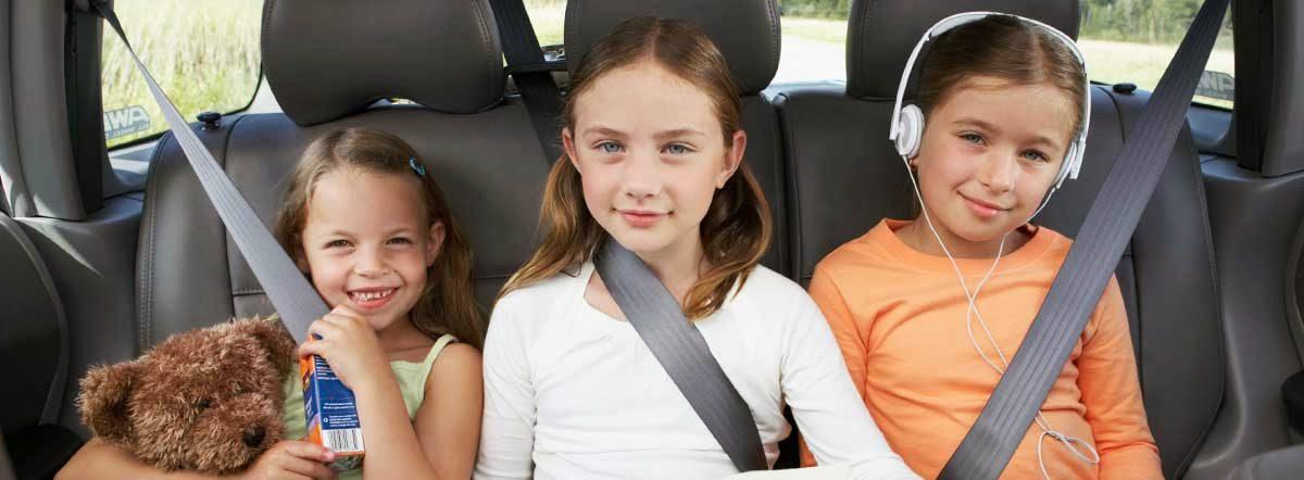 การดูแลเด็กให้ปลอดภัยเมื่อโดยสารในรถ