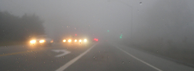 หน้าหนาวแล้วทัศนวิสัยไม่สู้ดี ขับรถด้วยความระมัดระวัง