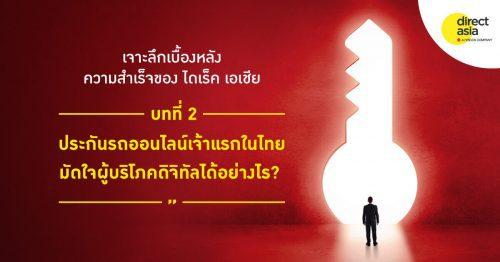 ประกันรถออนไลน์เจ้าแรกในไทย มัดใจผู้บริโภคดิจิทัลได้อย่างไร